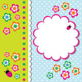 Cute Floral Frame Stock Photo