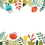 Cute floral frame Stock Images