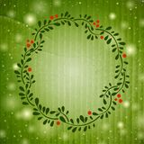 Cute Floral frame on green background Stock Photos