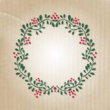 Cute Floral frame on paper background Royalty Free Stock Photography