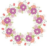 Cute floral frame Royalty Free Stock Photos