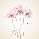 Cute floral greeting card Stock Images