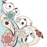Cute floral  illustration Royalty Free Stock Image