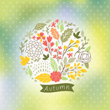 Cute floral illustration Stock Photography