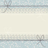 Cute floral lace frame for your creative designs Stock Photography