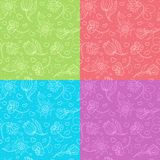 Cute floral pattern. Cute seamless floral pattern in four colors Stock Photography