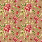 Cute Floral pattern in the roses flower. Motifs scattered random. Seamless texture. Elegant template for fashion prints stock illustration