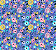 Cute Floral pattern. Seamless pattern with flowers for design. Small colorful multicolor flowers. Light violet background. Modern floral background. The elegant Royalty Free Stock Photography