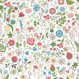 Cute floral pattern Royalty Free Stock Photos