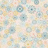 Cute Floral pattern in the small flower. Ditsy print . Motifs scattered random. Seamless  texture. Elegant template for fash. Ion prints. Printing with very Royalty Free Stock Photos