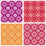 Cute floral patterns Royalty Free Stock Photography