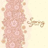 Cute floral romantic card. Spring background. Stock Image