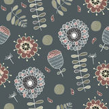 Cute floral seamless. Vector illustration. hand drawn cute floral seamless Royalty Free Stock Images