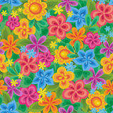 Cute floral seamless background. Cute floral bright seamless background Royalty Free Stock Photos