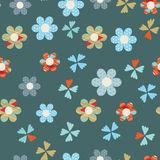 Cute floral seamless background Royalty Free Stock Image