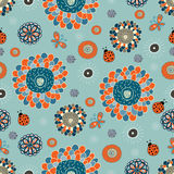 Cute floral seamless pattern. Artistic hand drawn  illustration Royalty Free Stock Photos
