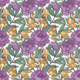 Cute floral seamless pattern background. Stock Photos