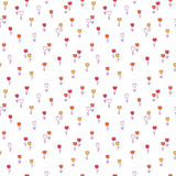 Cute floral seamless pattern with. Background with decorative tu Royalty Free Stock Image