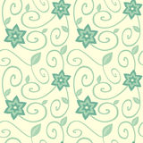 Cute floral seamless pattern on beige background illustration Royalty Free Stock Photo
