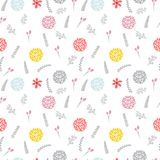Cute floral seamless pattern with flowers.   Stock Photography