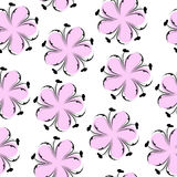 Cute floral seamless pattern, pink floral background. Gentle wallpaper. Flower texture Stock Photos