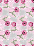 Cute floral seamless pattern. Pink flowers on grunge background. Stock Images