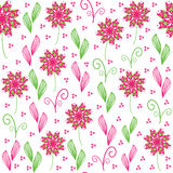 Cute  floral seamless pattern, and seamless patter Stock Photo