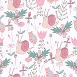 Cute floral seamless pattern Royalty Free Stock Photo