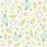 Cute floral seamless pattern. Vector EPS10 hand drawn seamless floral pattern Royalty Free Stock Image