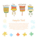 Cute floral set Doodle collection of spring flow royalty free illustration