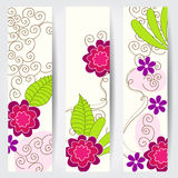 Cute floral web banners Stock Photography