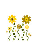 Cute flower deco Stock Images