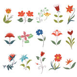 Cute flower elements Royalty Free Stock Photo