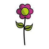Cute flower emblem icon Stock Photos