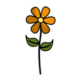 Cute flower emblem icon Stock Image