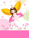 Cute flower fairy. Art Vector Illustration Royalty Free Stock Photos
