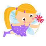 A cute flower fairy. Illustration of a cute flower fairy Stock Photography