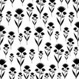 Cute flower garden decorative pattern. Vector illustration design Stock Photography