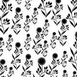 Cute flower garden decorative pattern. Vector illustration design Royalty Free Stock Images