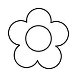 Cute flower garden isolated icon Stock Images