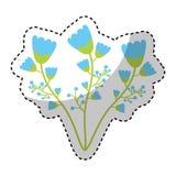Cute flower garden isolated icon. Vector illustration design Stock Photos