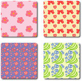 Cute flower pattern Royalty Free Stock Images