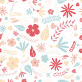 Cute flower seamless pattern Стоковые Фотографии RF