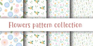 Cute flower seamless pattern stock illustration
