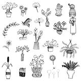 Cute flower sketch vector Royalty Free Stock Photo