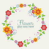 Cute flower wreath Stock Image