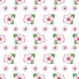 Cute flowers of azalea seamless pattern background Stock Photos
