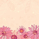 Cute flowers background Stock Photography