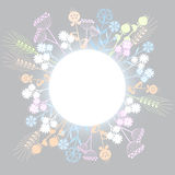 Cute flowers background. Cute wild flowers background for greeting cards or summer and spring design Stock Photos