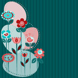 Cute flowers background Stock Photos